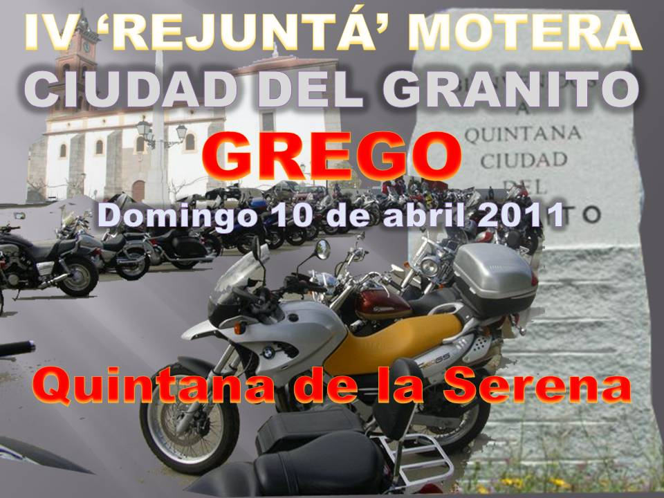 La IV 'Rejuntá' Motera Ciudad del Granito se celebrará el 10 de Abril